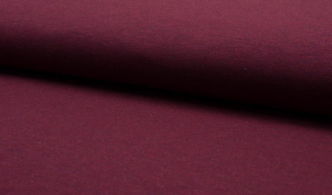 Melange Jogging - Bordo, Sweatshirt Knit Fabric by the 1/2 Meter, European knits (114646908956)