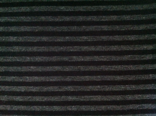 Charcoal-Black Stripes Bamboo Spandex Stretch Jersey. 200 GSM. PER 1/2 Meter (9256697220)