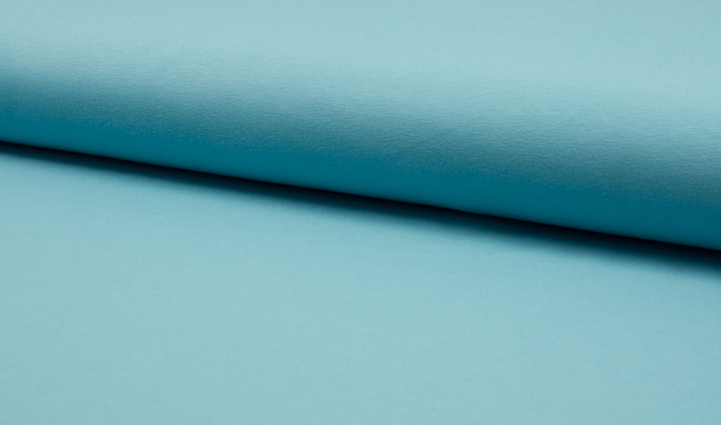 Mist Blue, Solids, Jersey Knit Fabric by the 1/2 Meter, European knits (2551255498812)