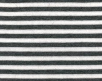 Charcoal-Ivory Stripes Bamboo Spandex Stretch Jersey. 200 GSM. PER 1/2 Meter