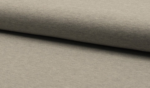 Light Grey Melange, Solids, Oeko-Tex 100 Certified, Knit Fabric by the 1/2 Meter, European knits