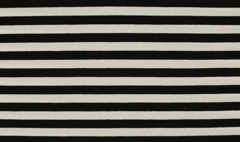 Yarn Dyed Black-White 1cm Stripes, Oeko-Tex 100 Certified, Knit Fabric by the 1/2 Meter, European knits