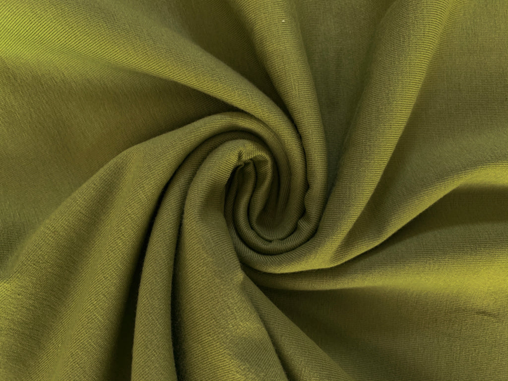 Chartreuse, Solids 2.0, Jersey Knit Fabric by the 1/2 Meter, European knits (4475330723900)