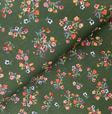 Sweet Bunches- Olive, Digital Jersey Knit Fabric, per 1/2 meter, European knits (4528746823740)