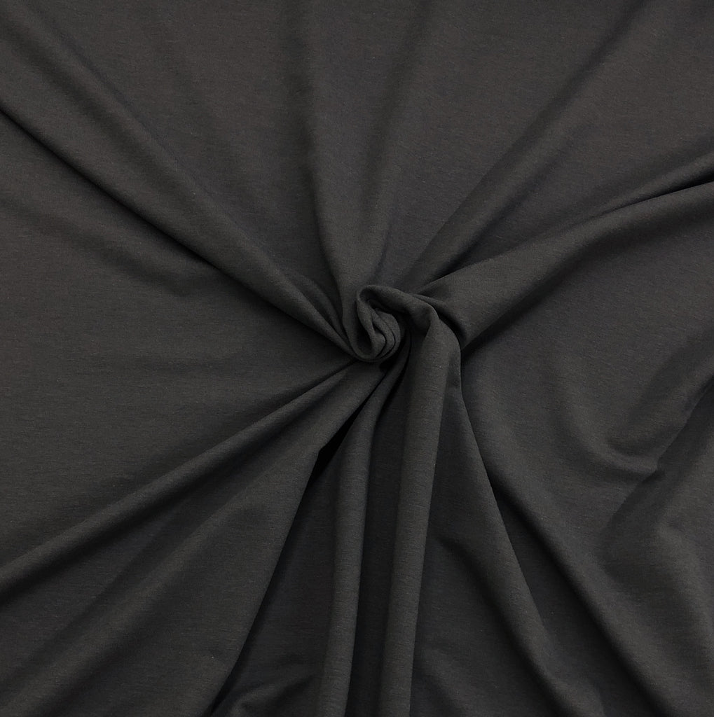 Dark Shadow- Ribbing 2x2 Bamboo Cotton | PER 1/2 Meter | 275 GSM (4330041704508)