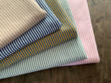 2 mm Beige-Sand Stripes, by the 1/2 m, Jersey Knit Fabric, European knits (3716805165116)