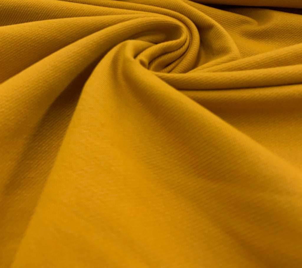 Ochre Denim Jeans Jersey, Knit Fabric by the 1/2 Meter, European knits (10475041551)