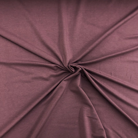 Rose Brown | Bamboo Cotton Stretch French Terry | 270 GSM | PER 1/2 Meter (448925532198)
