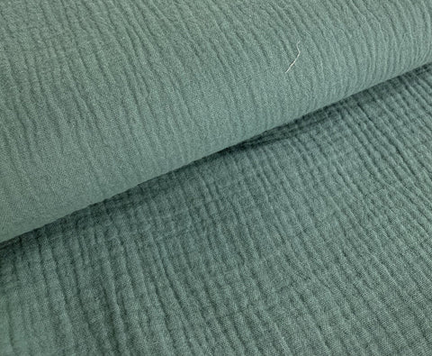 Teal Green, Double Gauze |per 1/2 meter| (509109436476)
