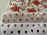 Earthy Hearts - by the 1/2 metre - Valentine's Day Retail (6226207965369)