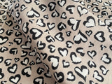 Panther Hearts, Double Gauze |per 1/2 meter| (6274803859641)