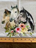 "R24 PREORDER- ADULT PANEL 30x36""- Floral Horse TRIO (4508874342460) (4615231307836)"