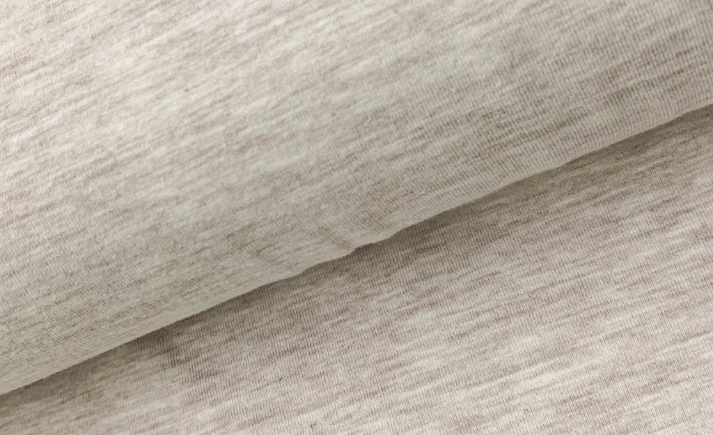 Beige Melange, Solids Jersey, Oeko-Tex Certified, Knit Fabric by the 1/2 Meter, European knits (4487781122108)