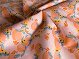 Tasty Fruit- Pink, Woven Cotton Poplin by the 1/2 METER (6031921086649)