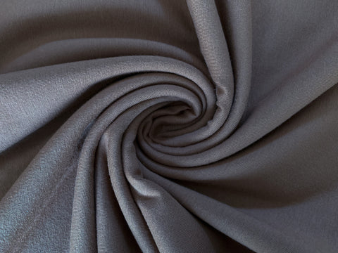 Ash Grey, Solids 2.0, Jersey Knit Fabric by the 1/2 Meter, European knits (4475330887740)