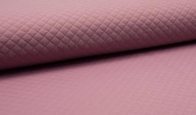 Old Rose, Diamond, Quilted Jersey Knit Fabric by the 1/2 Meter, European knits (3847540015164)