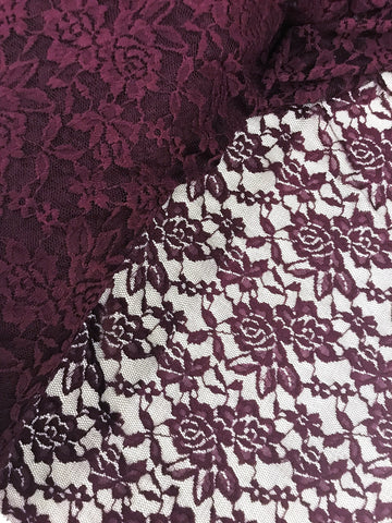 Stretch Lace - Dark Plum, by the 1/2 meter (3864071077948)