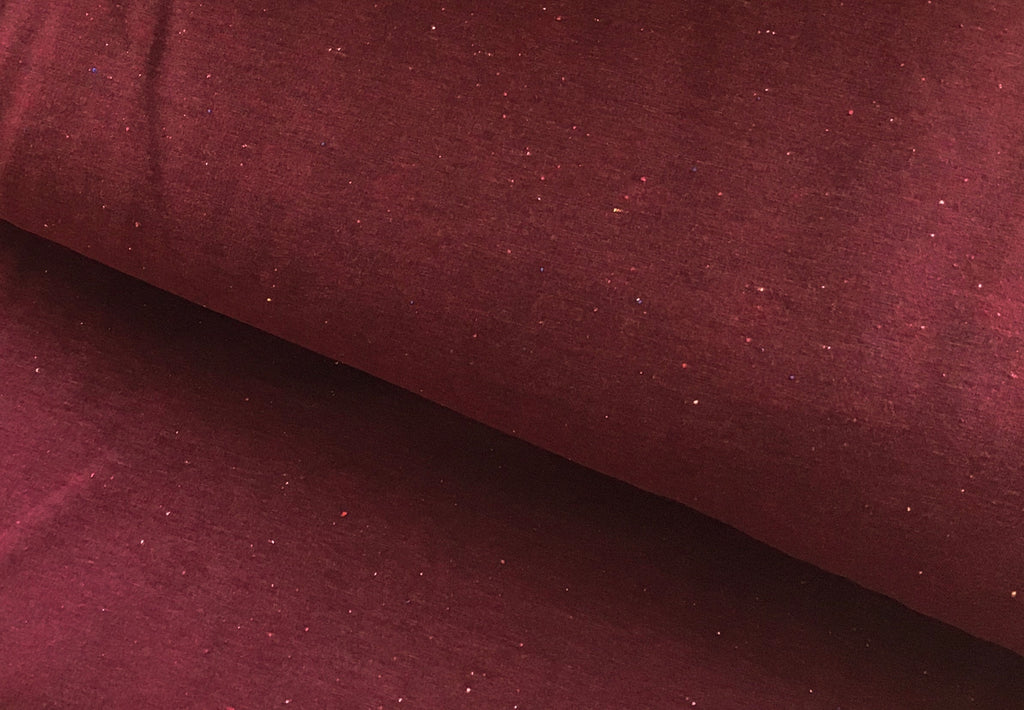 Sprinkles - Bordo - Brushed Sweat | Knit Fabric by the 1/2 Meter| (2404438638652)