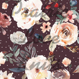 R30 PREORDER - Garden Floral on Plum - by the 1/2 metre (6167499571385) (6624698990777) (6624732610745) (6625289961657) (6625293566137)