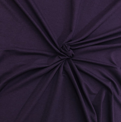 Plum- Bamboo FRENCH TERRY Knit | PER 1/2 Meter | 270 GSM