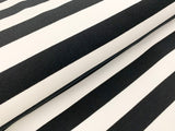 Inch-Wide Stripes- Black - French Terry Knit Fabric. per 1/2 meter, European Knits (4352261390396)
