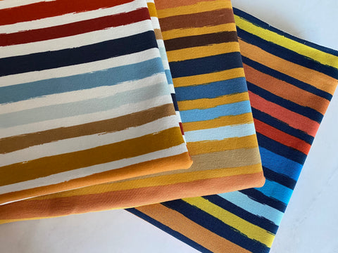 Retro Stripes Collection, per 1/2 meter, French Terry, European knits (6249372057785)