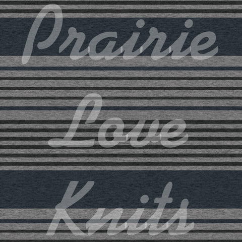 R30 PREORDER - Heathered Navy Stripes - by the 1/2 metre (6167496687801) (6630064521401)