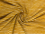 Sketchy Stripes on Ochre -  per 1/2 meter - Jersey - European knits (4448692338748)