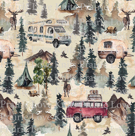 E1 EURO PREORDER - Vintage Camping - by the 1/2 metre (4476538814524) (4569082265660)