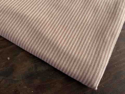 2 mm Beige-Sand Stripes, by the 1/2 m, Jersey Knit Fabric, European knits
