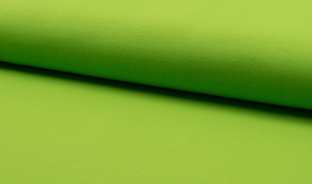 Lime, Solids, Oeko-Tex 100 Certified, Knit Fabric by the 1/2 Meter, European knits