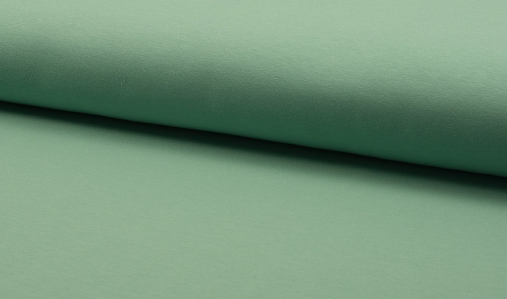 Mint, Solids, French Terry Brushed Knit Fabric by the 1/2 Meter, European knits (11891639951)