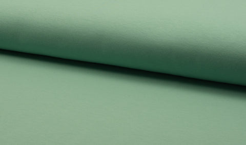 Mint, Solids, French Terry Brushed Knit Fabric by the 1/2 Meter, European knits