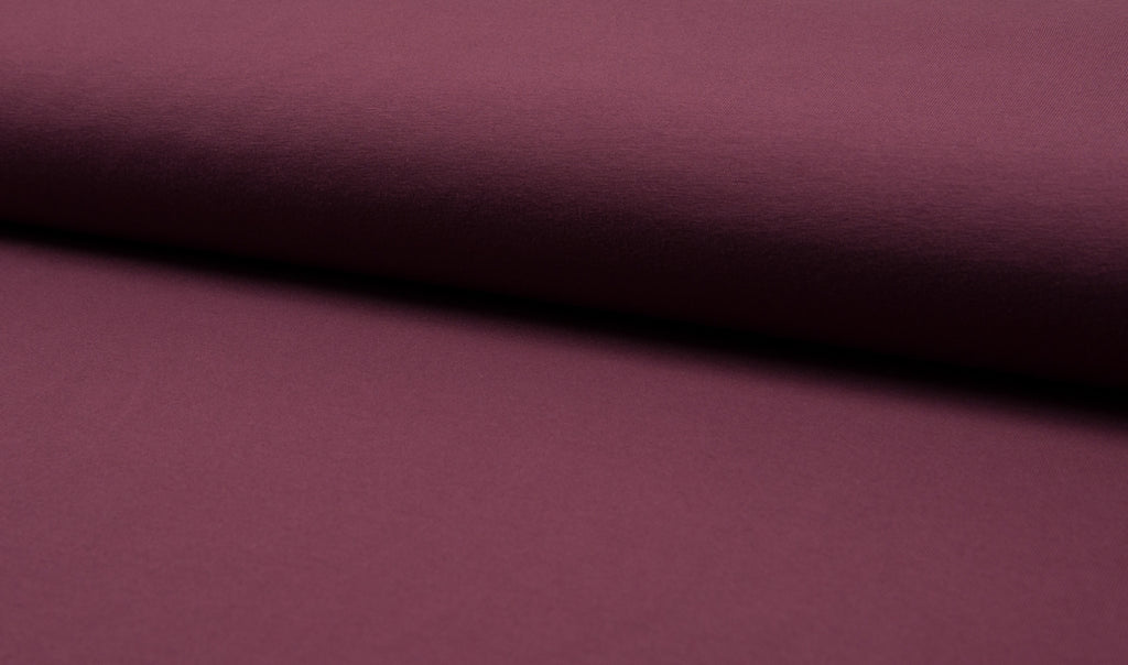 Plum, Solids, Solids, Jersey Knit Fabric by the 1/2 Meter, European knits