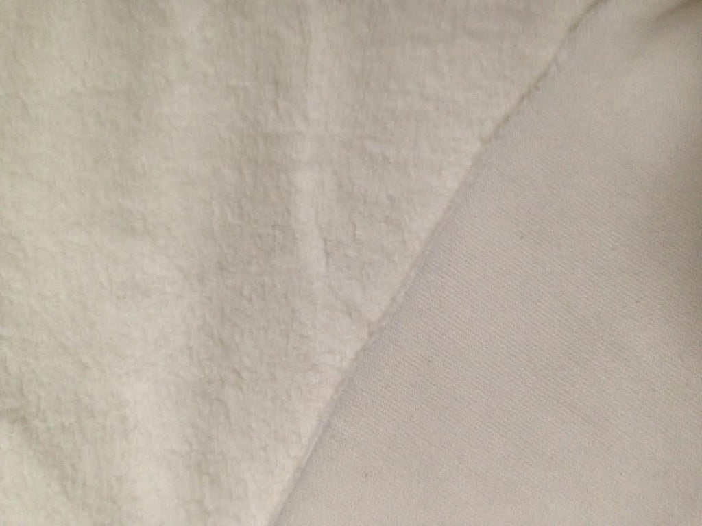 Sherpa, Off White,  Oeko-Tex 100 Certified, Knit Fabric, per 1/2 meter, European knits