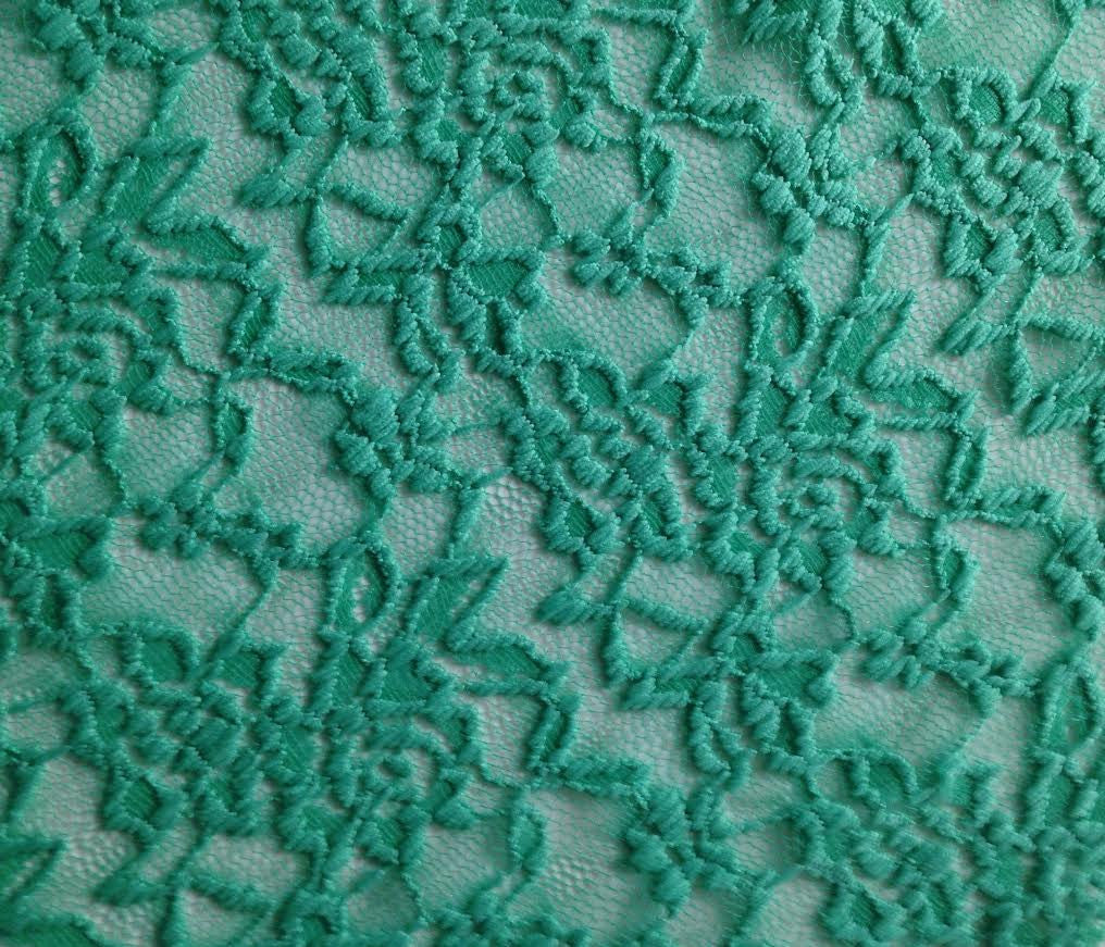 Stretch Lace - Dark Mint, by the 1/2 meter (11402626895)