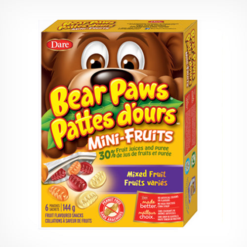 Bear Paws Mini-Fruits, Cherries & Berries - 6 packets