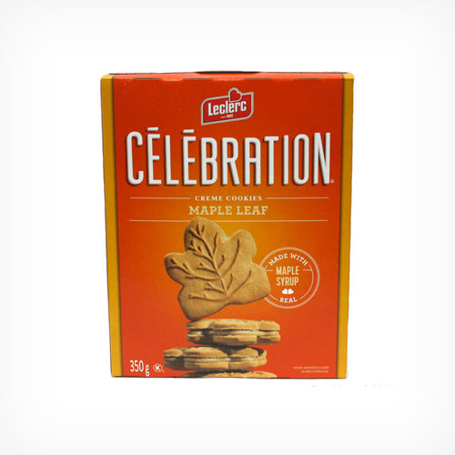 Celebration Maple Leaf Cream Cookies - 350g