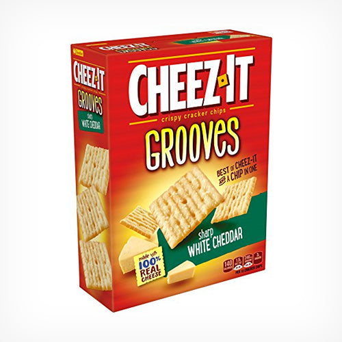 Cheez-It Grooves Sharp White Cheddar 255 g