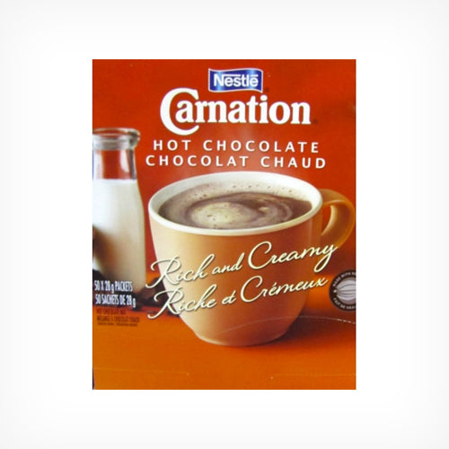 Hot Chocolate, Carnation, 50 Pack