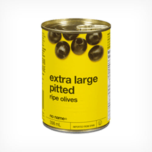 Olives, Black,Extra Large Pitted, 398 ml