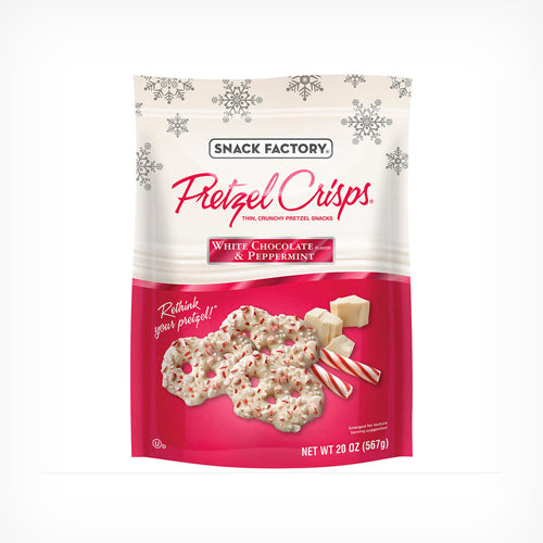 Pretzel Crisps, White Chocolate & Peppermint 567 g