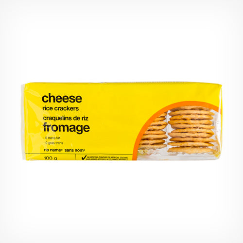 Rice Crackers, No Name, Cheese, 100g