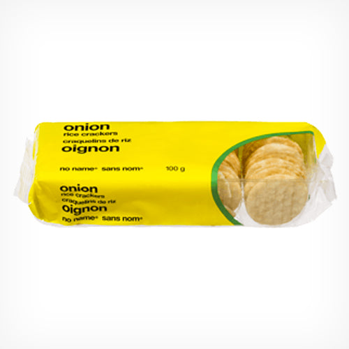 Rice Crackers, No Name, Onion, 100g