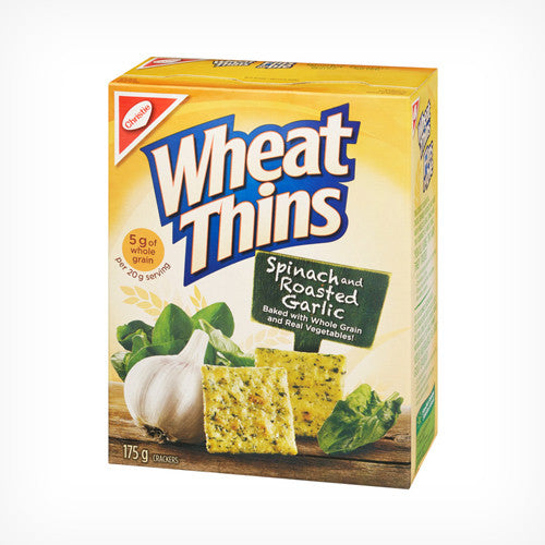 Wheat Thins Spinach & Roasted Garlic 175g
