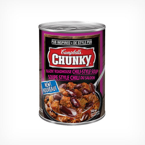 Campbell's Chunky Blazin' Roadhouse Chili-Style Soup 540ml