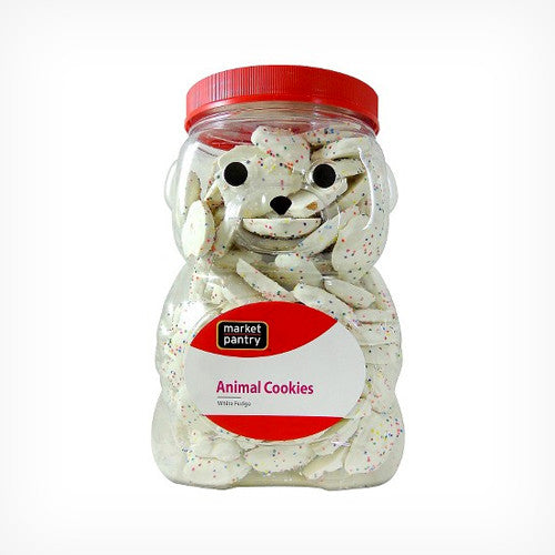 White Fudge Animal Cookies 1.24kg