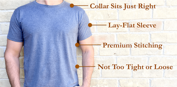 tshirt t-shirt custom lengths tailored sizes crewneck vneck