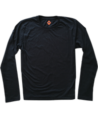 Long-Sleeve Soft-Stretch Crewneck