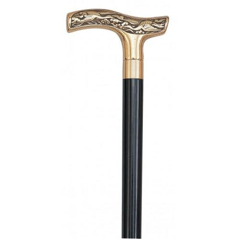 Victorian walking cane with silver handle